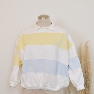 🌵3 for $23🌵Vintage striped cropped sweatshirt